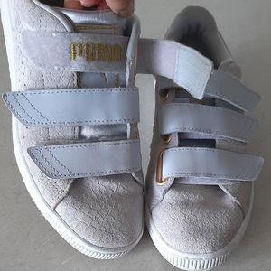"Puma ""Exotic"" Skin Velcro Sneakers"